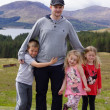 Father and Children in Scottish Highlands - Beautiful Scenery — Stock Photo #27894663
