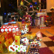 Festive Season - Christmas Morning - Presents and Tree — Stock Photo