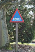 Road Warning Sign - Mischief — Foto de Stock