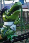 Funfair Ride - Crocodile Rollercoaster — Stock Photo