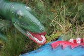 Scelidosaurus harrisonii - Dinosaur Eating Scene — Stock Photo