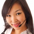 Asian girl with headset — Stock Photo #4927812