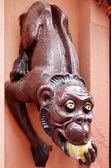 Monkey Eats An Apple — Stock Photo
