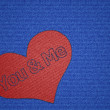 You and Me Heart Shaped Patch — Stock Photo #32805609