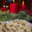 Advent Season With Christmas Stollen — Stock Photo