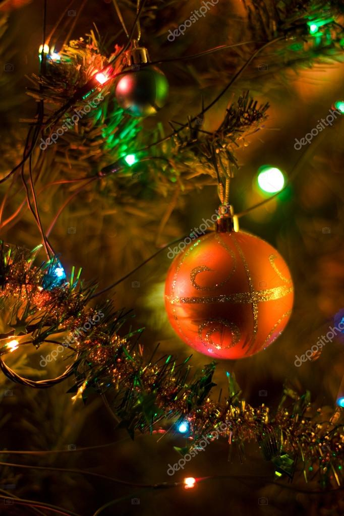 Christmas tree decorations. Close up. Selective focus. — Stock Photo #13269860