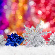 Christmas decorations in the snow — Stock Photo #13270140