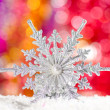 Christmas decorations in the snow — Stock Photo #13270265