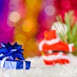 Stock Photo: Christmas decorations in the snow