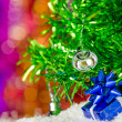 Christmas decorations in the snow — Stock Photo #13270843
