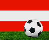 The Austrian flag — Stock Photo