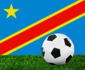 La República Democrática de la bandera de congo — Foto de Stock
