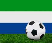The Sierra Leone flag — Stock Photo
