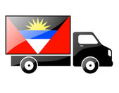 The Antigua and Barbuda flag — Stock Photo