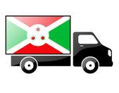 The Burundi flag — Stock Photo