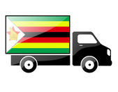 The Zimbabwe flag — Stock Photo