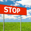 STOP Road Sign. — Stockfoto