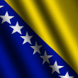 The Bosnia and Herzegovina flag — Stock Photo