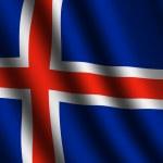 İzlanda bayrağı — Stok fotoğraf
