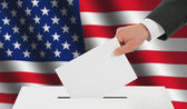 Man's hand down the ballot — Stock Photo