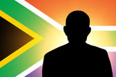 The South African Republic flag — Stock Photo
