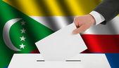 The Comoros flag — Stock Photo
