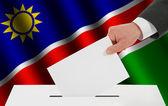 The Namibia flag — Stock Photo