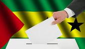 The São Tomé and Príncipe flag — Stock Photo