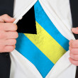 The Bahamas flag — Stock Photo #13963234