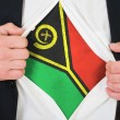 The Vanuatu flag — Stock Photo