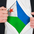 The Djibouti flag — Stock Photo
