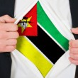The Mozambique flag — Stock Photo