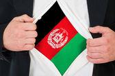 The Afghan flag — Stock Photo
