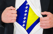ボスニア ・ ヘルツェゴビナの旗 — ストック写真