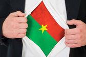 The Burkina Faso flag — Stock Photo