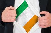 The irish flag — Stock Photo