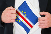 The Cape Verde flag — Stock Photo