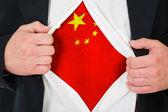 Die chinesische flagge — Stockfoto