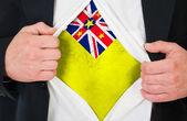 Niuean flagga — Stockfoto