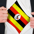 The Uganda flag - Stock Photo