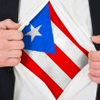 The Puerto Rico flag — Stock Photo