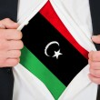 The Libyan flag — Stock Photo #13979184