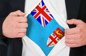 The Fiji flag — Stock Photo