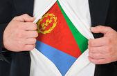 The Eritrea flag — Stock Photo