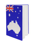 Concept. Book with the national flag Australia — Stock Photo