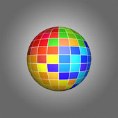 Pixel art. The multi-colored sphere — Stock Photo