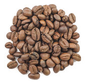 Handful of coffee beans. isolated — Stock Photo