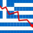 The Greek flag — Stock Photo #22799774