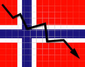 The Norwegian flag — Stock Photo