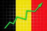 The Belgian flag — Stock Photo